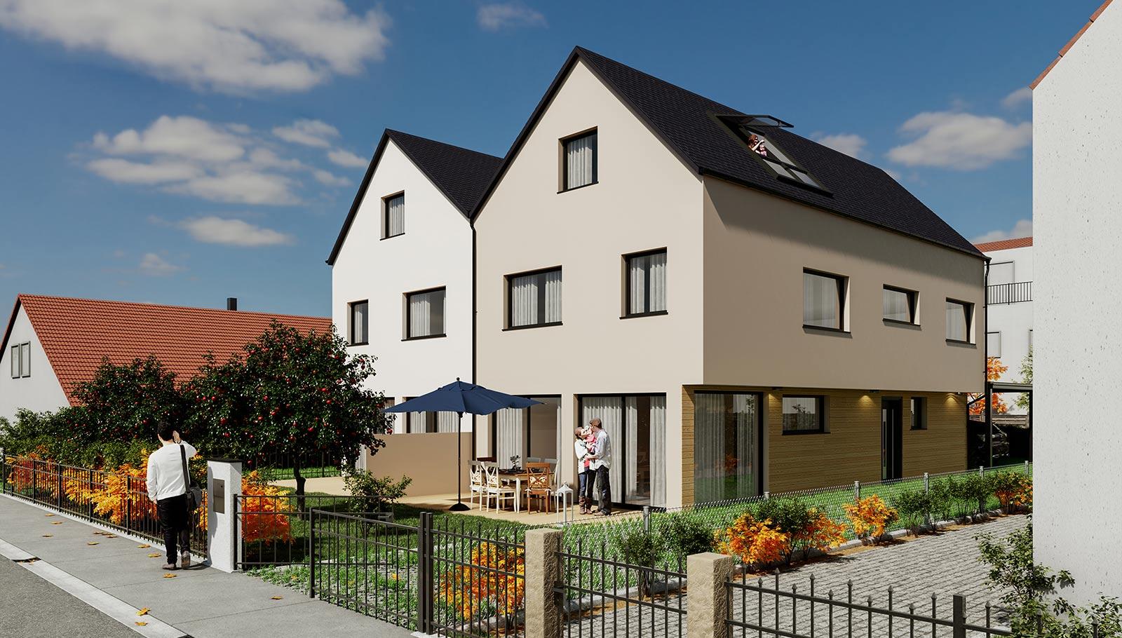 Twinhouses in Leitershofen 2 Doppelhaushälften
